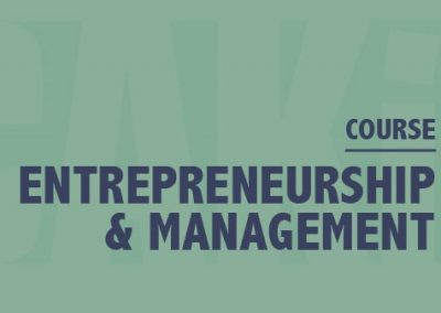 Entrepreneurship and management in Artistic Productions