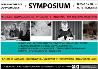 SYMPOSIUM ON INTERDISCIPLINARY ARTISTIC LEARNING ENVIRONMENTS