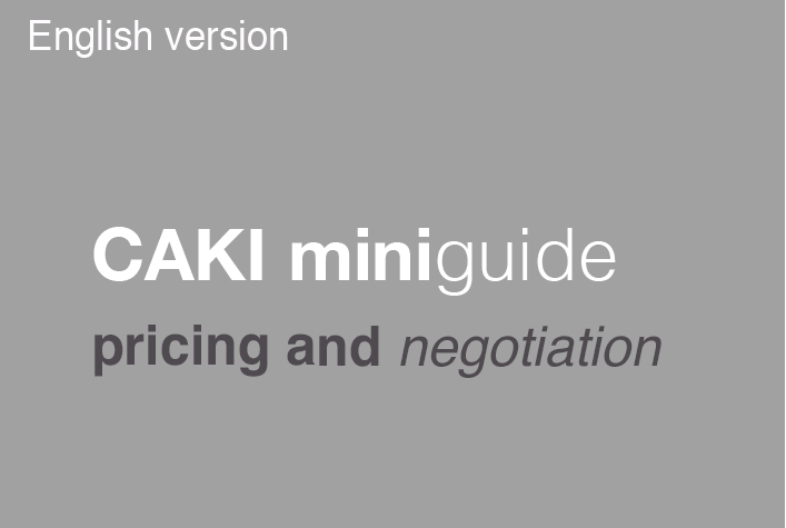 An English version of the miniguide 'Pricing and negotiation' is now ready