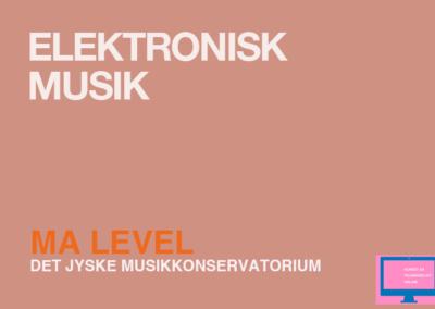 Electronic music / MA