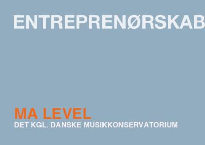 Entreprenørskab / MA
