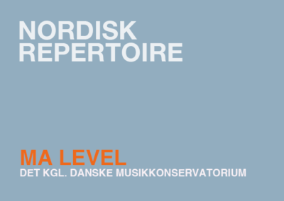 Nordisk Repertoire / MA