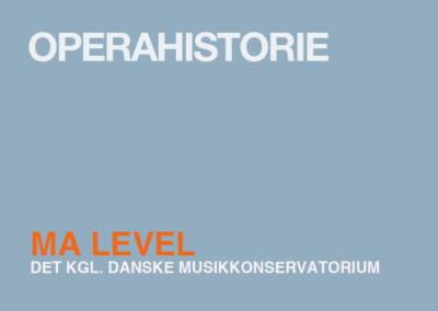 Opera history / MA