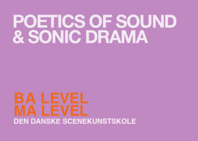 TVAERS – Poetics of sound and sonic dramaturgy