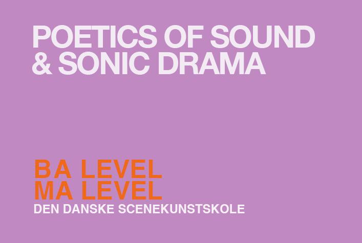 Lydens poetik og dramaturgi / BA + MA