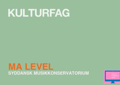 TVAERS – Kulturfag