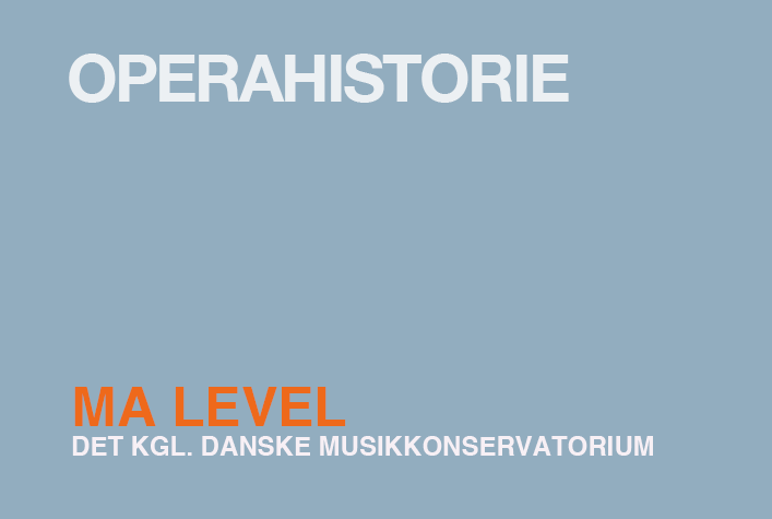 Operahistorie / MA
