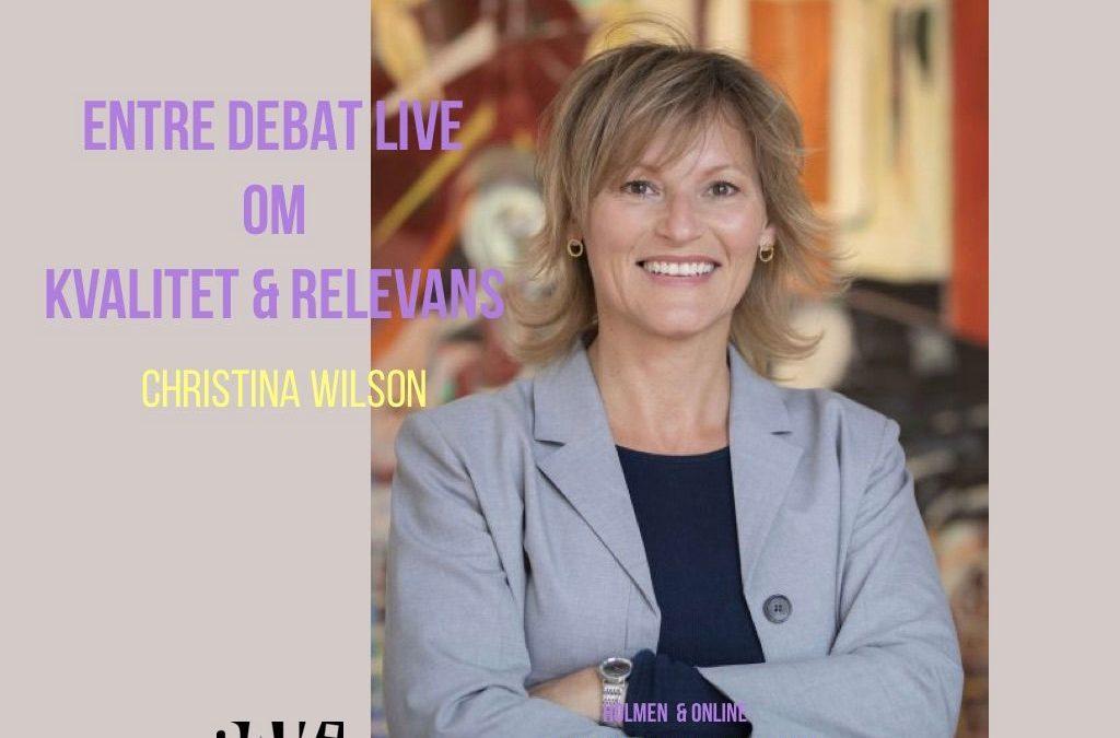 ENTRE DEBAT LIVE: Christina Wilson