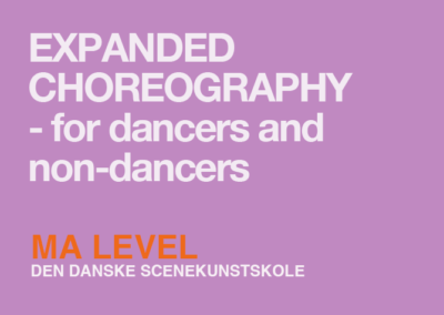 Expanded Choreography – for dancers and non-dancers