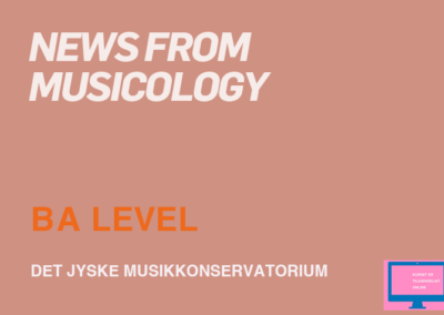News from musicology / MA