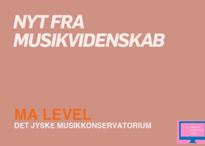 Nyt fra musikvidenskab / MA