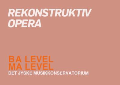 Rekonstruktiv opera / BA + KA