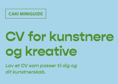 CV for kunstnere og kreative