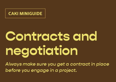Contracts and negotiation