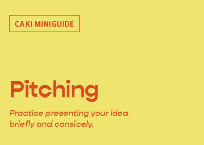 How to develop and present your pitch