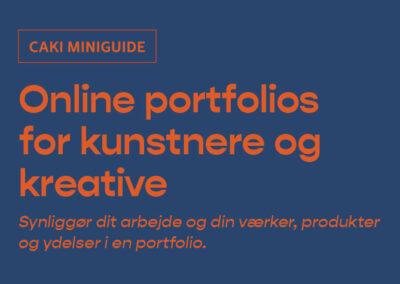 Online portfolios for kunstnere