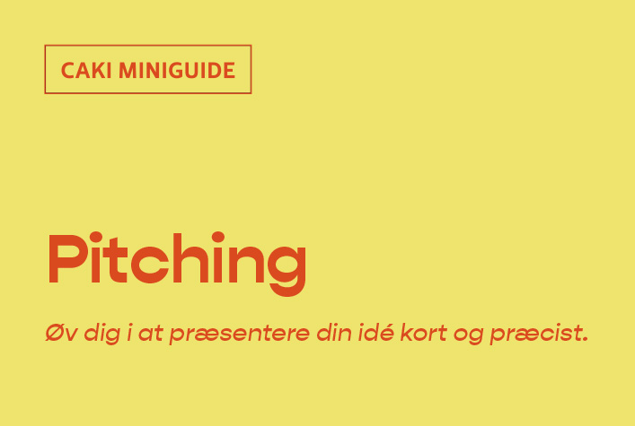 CAKIs Miniguide til pitching